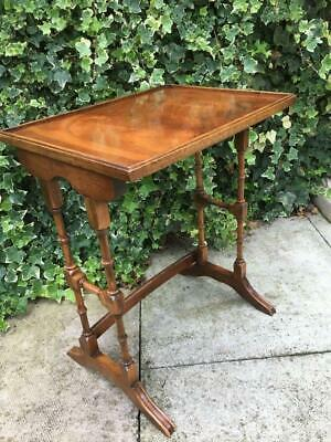 Vintage Bevan Funnell Table Yew Wood Table Hall Table Lamp Side Table