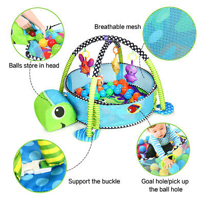 New Car Baby Gym 3 in 1 Activity Play Floor Mat Ball Pit & Toys Babies Playmat