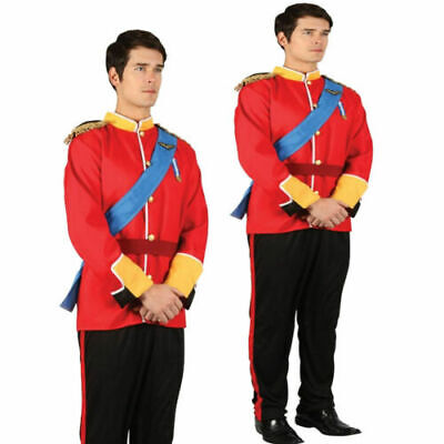 Prince William Royal Fairytale Military Uniform Outfit Mens Fancy Dress Costume