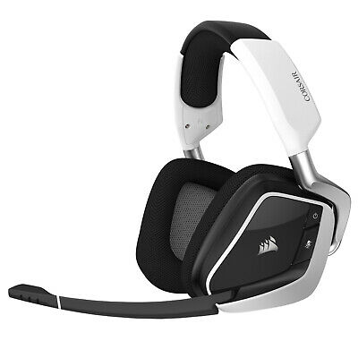 Corsair Gaming Headset Headphone Over-Ear Wireless USB VOID PRO RGB White