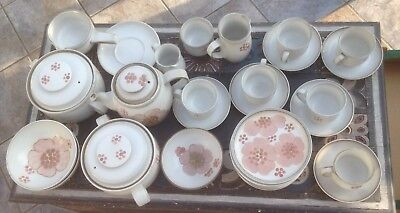 30 Pieces of  assorted Denby Gypsy stoneware. 1970's retro. Excellent condition.