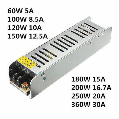 AC 110-220V TO DC 12V Switch Power Supply Driver adapter For LED Strip