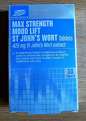 Boots Max strength Mood Lift St John's Wort 425mg