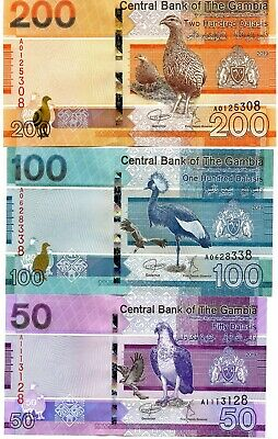 GAMBIA Set 5,10,20,50,100,200 Dalasis P-new 2019 UNC Banknotes Complete Set