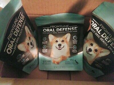 FRONTLINE Oral Defense Daily Dental Chews for Small Dogs 10-25 lbs 7-Ct. 3 BAGS