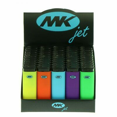 MK JET TORCH Lighters Windproof Refillable Lighter Neon Butane 50 Ct FF SHIPPING