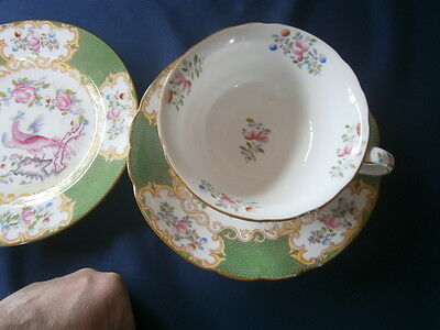 REDUCED Lovely Minton Antique Cockatrice Trio c1910 vgc