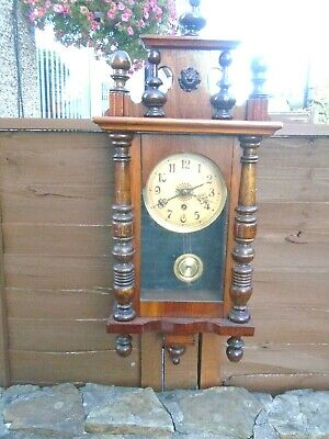 Small,Antique,Vienna Style Wall Clock In Very Good Condition