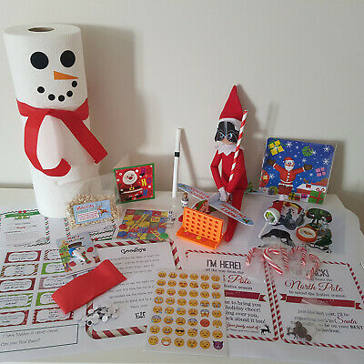 Elf props -24 activities for Christmas -accessories / pack on the shelf -ready