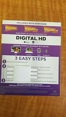 Back to the Future Trilogy HD Digital Movies Only Michael J Fox