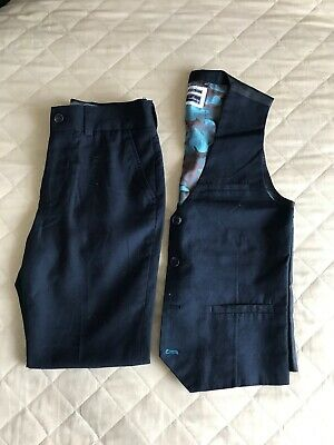 Boys Next Navy Waist Jacket And Trousers 9 Years