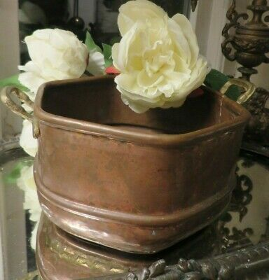 Charming Vintage French Copper Jardiniere / Planter  ~   Period Or Country Home