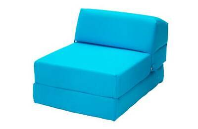 Colour Match Home Single Fold Flip Out Chairbed Chair Bed Blue Z Bed Futon New