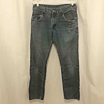 Levis 511 Skinny Jeans Size 34/32 Broken In Faded Frayed Red Tab