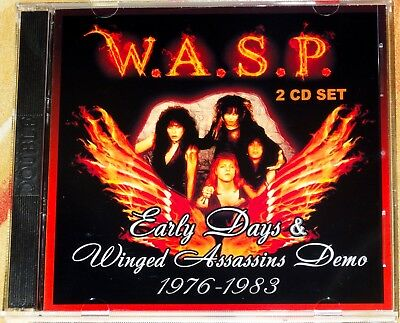 W.A.S.P. WASP Early Days & Winged Assassins Demo 1976-1983 2 CD Kiss Mötley Crüe