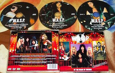 W.A.S.P. WASP Sweden Inside The Electric Circus Tour 1986 2 CD+DVD Iron Maiden