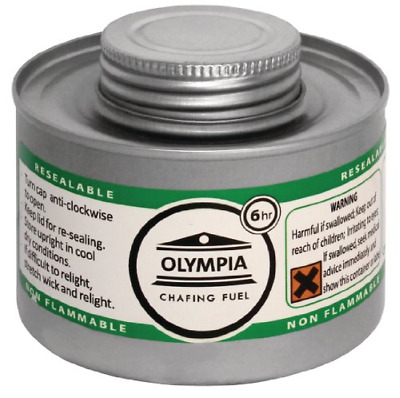 Olympia CB735 Chafing Liquid Fuel, 6 hour, Silver Pack of 12