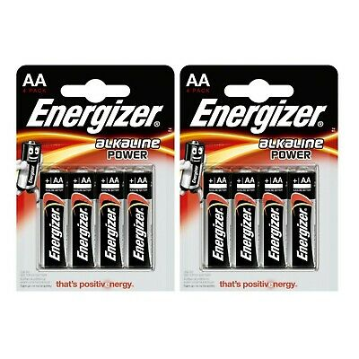 Pile AA LR6 Energizer Power Alcaline 1.5v LR06 1,5 volts lot de 8 piles