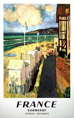 Vintage French Railways Normandy Tourism Poster A3/A4