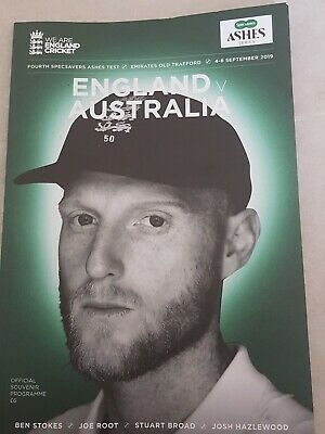 England V Australia 4Th Test Ashes Cricket Programme Old Trafford