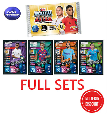 Match Attax 2019/20 19/20 Full set of Mega Tin cards - MULTI BUY DISCOUNT