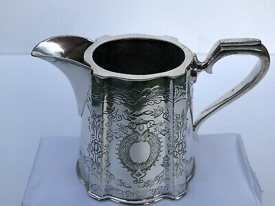 Vintage Walker & Hall EPNS Silver Plate Small Pretty Milk Jug