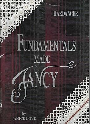 GUC Hardanger fundamentals made fancy Janice Love PB pattern book needlepoint
