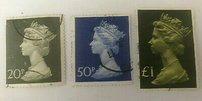QEII USED PARCEL STAMPS from 1970