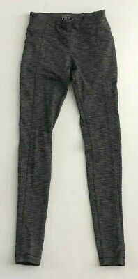 ATHLETA Girls Go The Distance Charcoal Gray Leggings Back Side Pockets Size XS 6