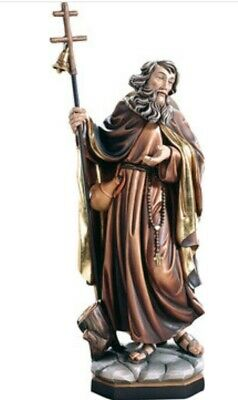 Statue St.Martin Fulgentius cm 20 Carved Wooden of Valgardena Decorated by Hand
