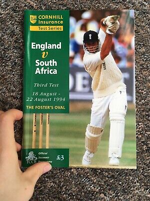 England V South Africa Test Series 1994 Official Cricket Programme Fosters Oval