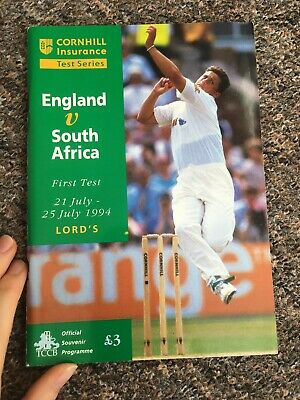 England V South Africa First Test 1994. Official Cricket Programme Lords