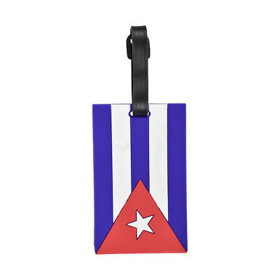 Luggage Tags Silicone Cuban Flag Kids Duffel Suitcase Tags National Travel Tag