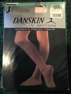 NEW DANSKIN WOMEN/'S DANCE STYLE 212 Theatrical Pink Footed TIGHTS Sizes C-D