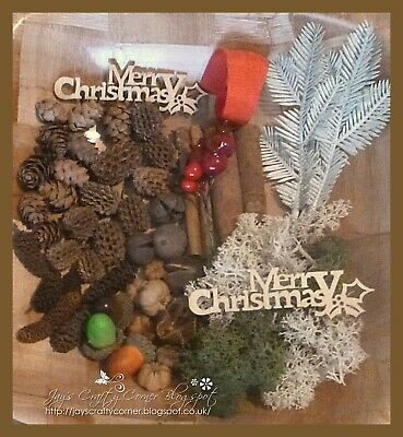 Massive 68 Piece Rustic Wreath Kit, Ideal for crafts and Christmas Ornaments