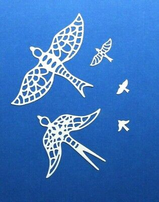 Birds Metal Cutting Die Set Intricutz Doves in Flight x 5 Dies Wild & Free BNIP