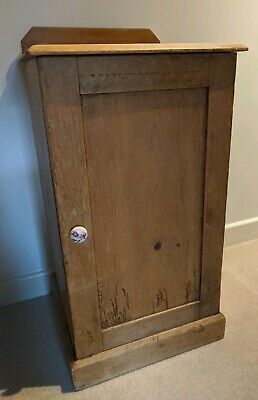 Antique Victorian Rustic Pine POT CUPBOARD / BEDSIDE TABLE / CABINET