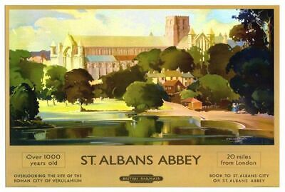 TX134 Vintage St Albans Route 84 England Classic Travel Poster Print A4