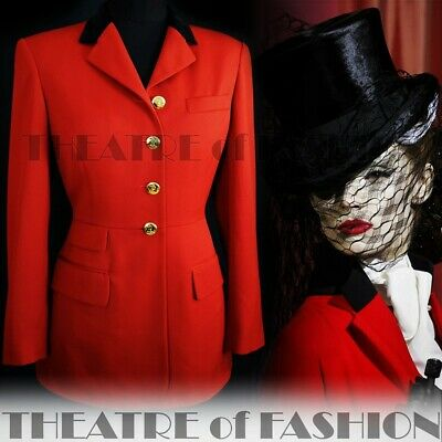 Jacket Coat Tailcoat Vintage Riding Ralph Lauren Red Victorian Mistress Vamp