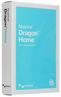 New Nuance Dragon Home Version 15 Speech Recognition Software