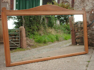 Large Antique Pine Wall / Mantle Mirror
