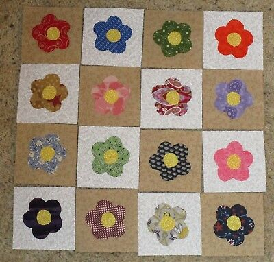 60 Pink Yellow Green Stripes Fabric Flower Applique//bow//trim//padded//quilt H382