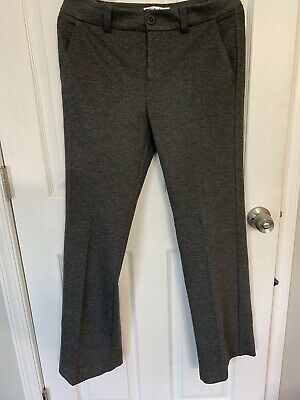 CABI My Favorite Trousers Ponte Pants, Size 6 Style 575R, Gray Stretch, EUC