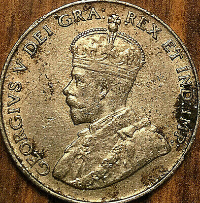 1924 CANADA 5 CENTS GEORGE V COIN - Excellent example!
