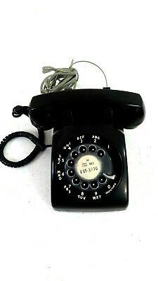 Vintage Bell System Black Rotary Dial Phone