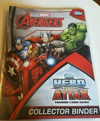Topps Marvel Avengers Hero Attax Collecter Binder with 68 Trading Cards
