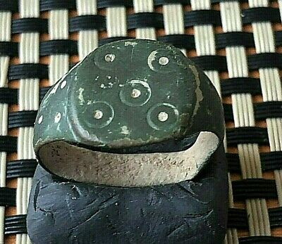 Ancient Roman Bronze Ring Circa 200-400 Ad Very Rare