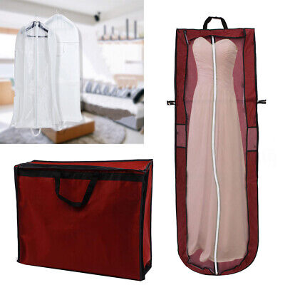 UK Long Dress Cover Storage Bag for Bridesmaid Bridal Wedding Gown Dress Carrier