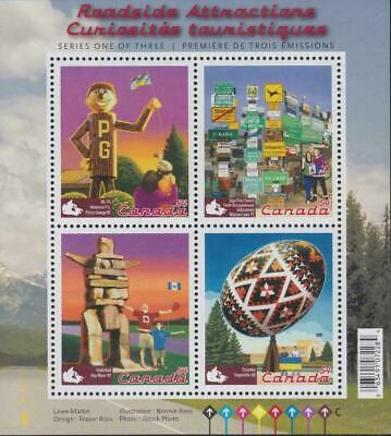 Canada  Sc# 2335  ROADSIDE ATTRACTIONS Souvenir Sheet of 4x54c  2009 MNH