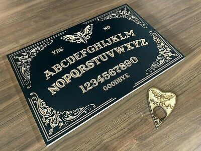 White Wooden Birch Plywood Decorative Moth Ouija Board With Planchette